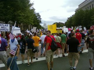 view walking into d.c. tea party